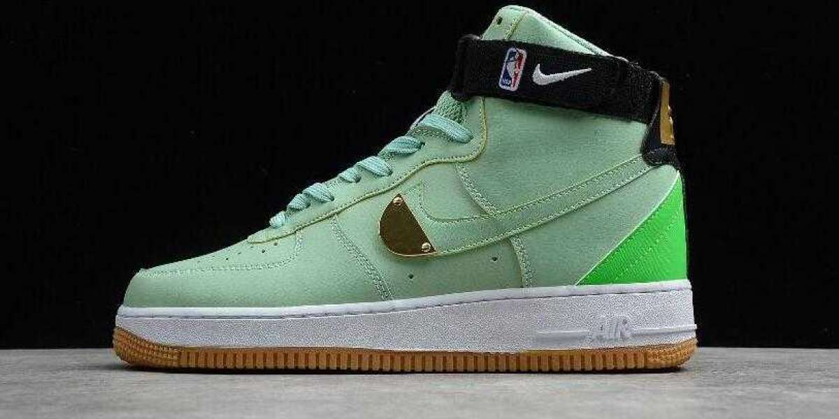 Special Offer Nike Air Force 1 High 07 NBA Green Gum Enamel Green Shoes