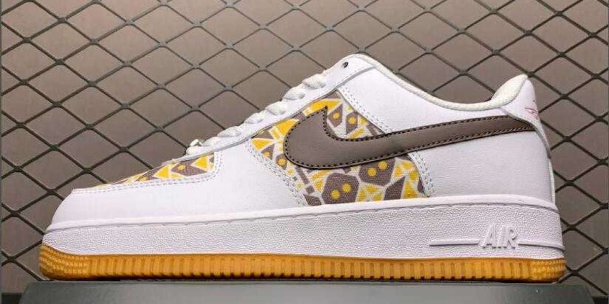Cheap Nike Air Force 1 Quai 54 White/Brown-Yellow Skateboarding To Buy DA6678-101