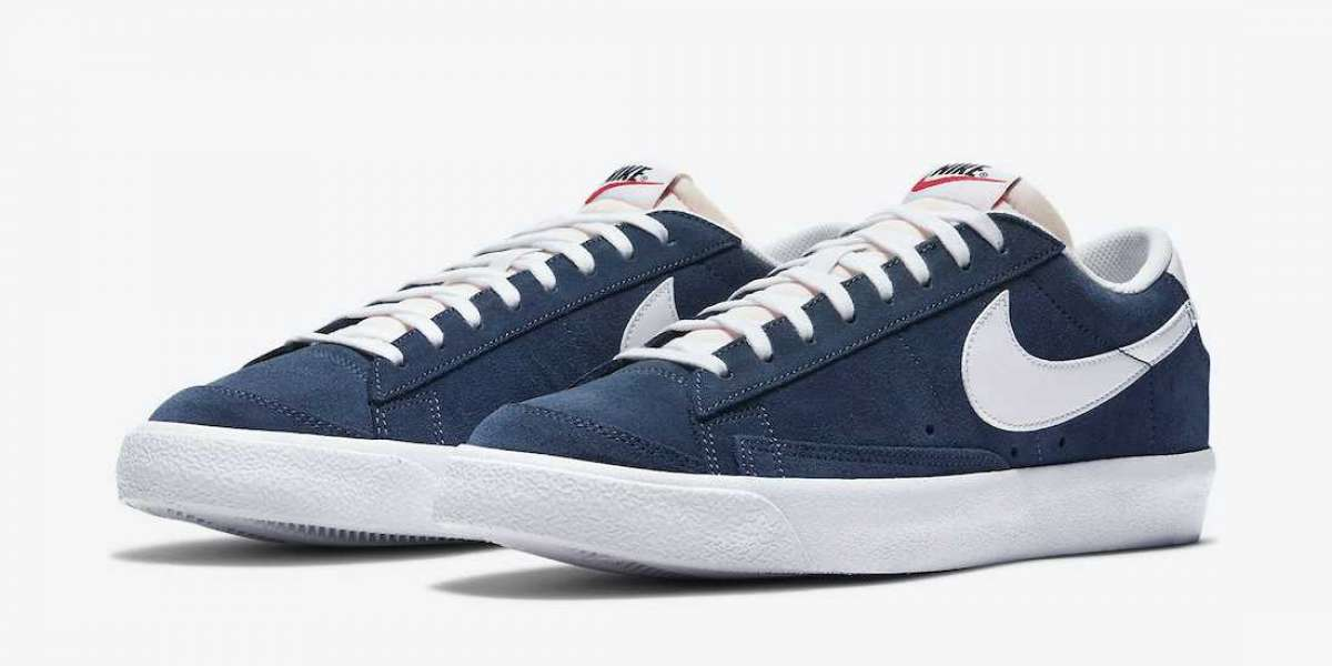 Nike Blazer Low Suede Navy Blue DA7254-400