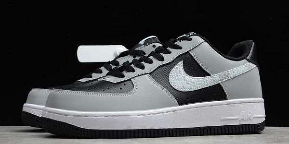 "Nike Air Force 1 B ""3M Snake"" Black/Silver-White 2021 Hot Sell DJ6033-001"