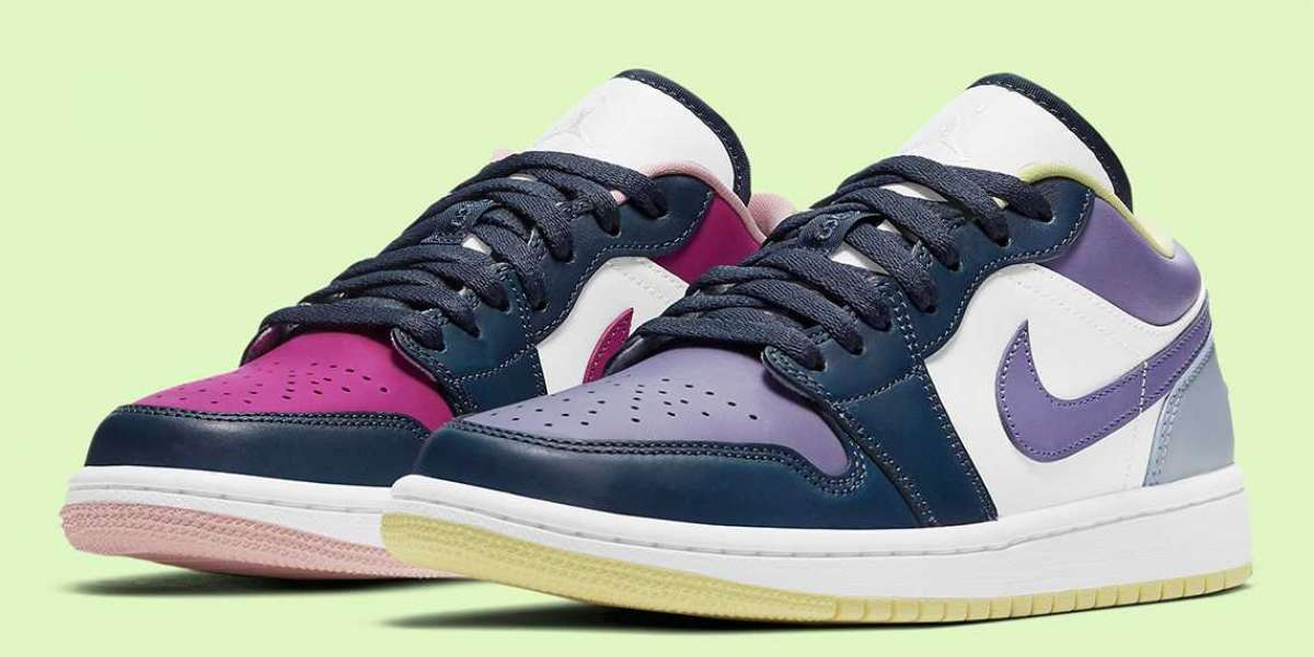 Best Sale Air Jordan 1 Low Purple Magenta White In Jordansaleuk.com