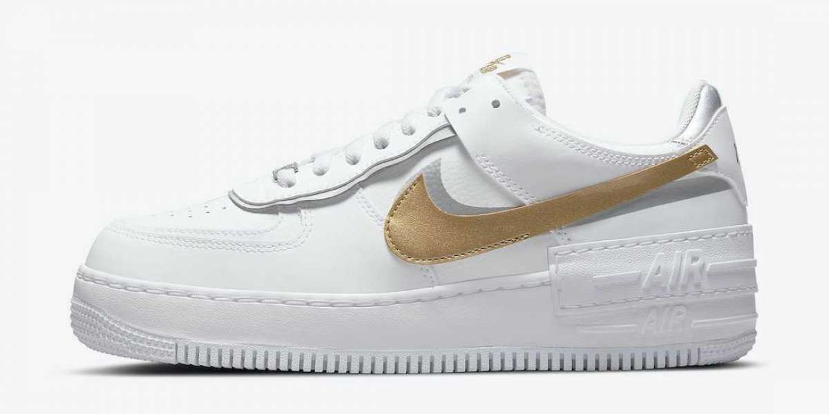 "Nike Air Force 1 Shadow ""White Gold"" 2021 New Arrival DM3064-100"