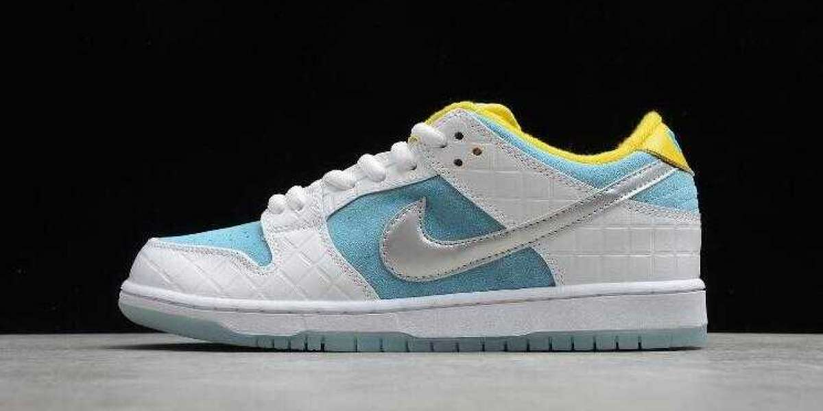 Cool Nike SB Dunk Low FTC Lagoon Pulse White Silver Blue DH7687-400 Online Sale Shoes