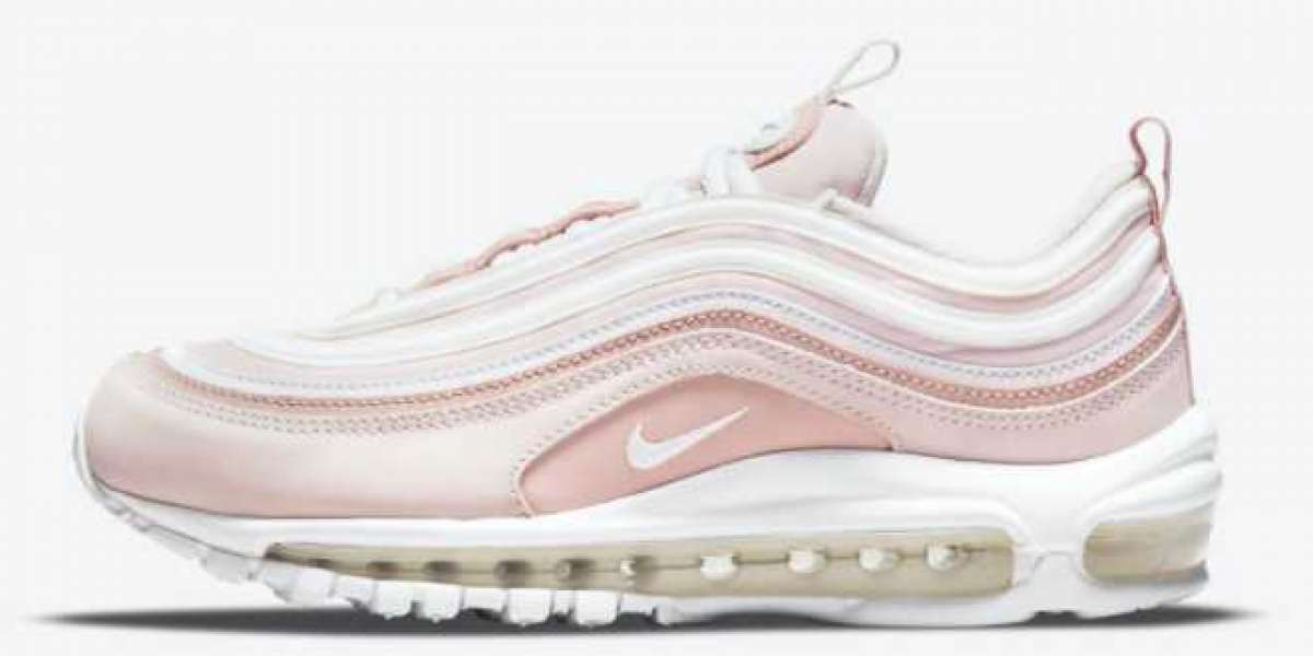 The Air Max 97 Barely Rose shoes come out